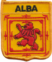 Scotland Alba Lion Rampant Shield Embroidered Badge (a140)